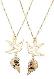 turtle dove friendship necklace