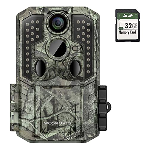 Trail Camera,30MP 1920P FHD 0.2S Trigger Motion Activated,Game Hunting Camera with Night Vision IP66 Waterproof 2.0''LCD 120°Wide Camera Lens for Outdoor Scouting Wildlife Monitoring Home Security