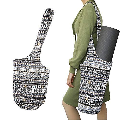DAUERHAFT Material Bohemio de la Aptitud de la Yoga del Bolso del Almacenamiento de la Yoga de la Moda del Estilo, para el Ejercicio(JIA Pad Storage Bag)