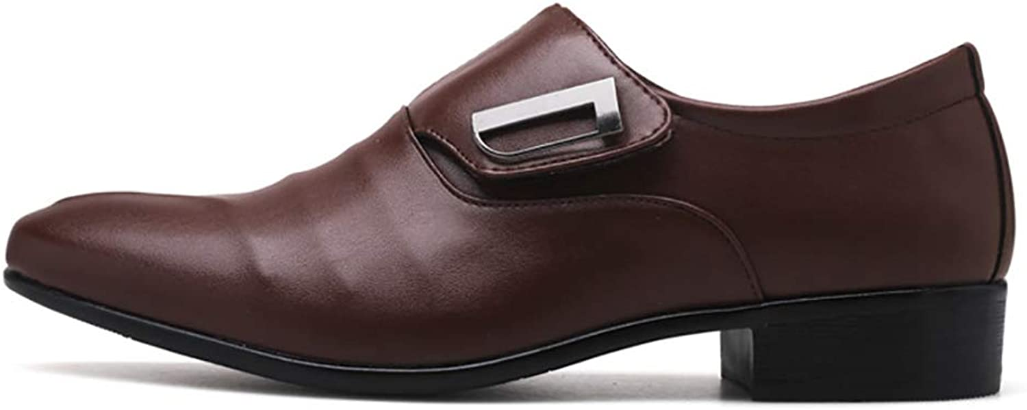 Male British Pointed shoes Men's Wedding shoes Large Size Men's Dress shoes European and American Monks shoes