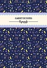 Carnet de Notes: Motif Coloré Floral Plantes Bleu | Format A5 | Papier Ligné | Couverture Souple | 100 Pages (French Edition)