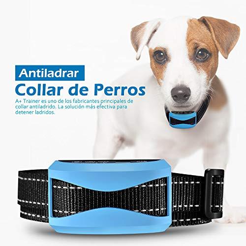 Collar Antiladridos para Perros, Collar Ladridos Perro 7 Niveles Sonido y Vibración Sensibilidad, Collar Adiestramiento Impermeable IP65, Correa Ajustable Nylon para Perro 7-54kg