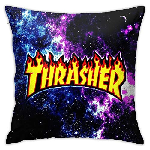 PRONUVEL Galaxy Thrasher Decoration Square Pillowcase Throw Pillow Case Cushion Covers for Sofa Bedroom Car Standard Size 18 X 18 Inch (No Insert)