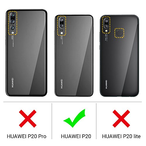 EasyAcc Huawei P20 Hülle Case, Schwarz TPU Telefonhülle Matte Oberfläche Handyhülle Schutzhülle Schmaler Telefonschutz für das Huawei P20 5.8'' - 2
