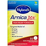 Hyland's Arnica Montana 30x Tablets, Natural Relief of Bruises, Swelling & Muscle Soreness, Multi, 50 Count