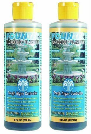 EasyCare 2 PACK FounTec Algaecide and Clarifier - 8 oz, Yellow