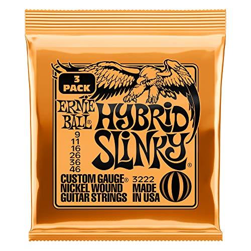 Ernie Ball Hybrid Slinky Nickel Wound Electric Guitar Strings 3 Pack - 9-46...