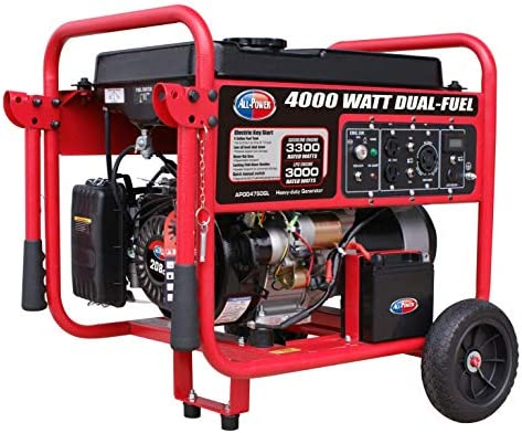 All Power America APGG4750GL 4000 Watt Dual Fuel Portable Generator with Electric Start 4000W product image