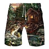 WINJIN Shorts Hawaïen Homme Maillot de Bain Été Shorts de Plage Imprimé Bermuda Casual Short Sport Pas Cher Pantalon Courte Musculation
