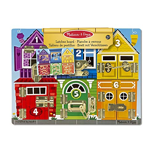 Melissa & Doug Latches Board | Developmental Toy | Motor Skills | Problem Solving | 3+ | Gift for Boy or Girl