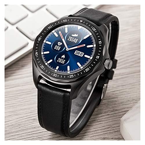 YDL Smart Watch IP68 Hombres Impermeables Monitoreo De Ritmo Cardíaco Presión Arterial Fitness Tracker GPS Mapa Smartwatch para Android iOS (Color : Black)