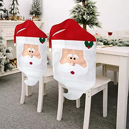 Kranich Fodera per Sedia Natalizia Coprisedile Natalizio Fodera per Sedia Babbo Natale Fodera per Sedia Famiglia Decorazione per la tavola di Natale, 1 Pezzo