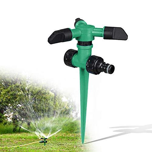 EAN Gartensprinkler, Rasensprinkler, 360 ° dreiarmige rotierende Sprinkler, die für Gartenbewässerungssysteme verwendet Werden