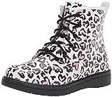 Skechers Kids Girls 302918L Combat Boot, White/Pink, 1 Little Kid