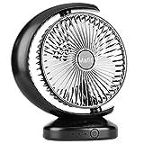 Mafiti Ventiladores de sobremensa,Ventilador de Escritorio portátil Personal oscilante, pequeño, con USB Recargable. Ideal para la Oficina, Viajes, Hogar, Dormitorio.