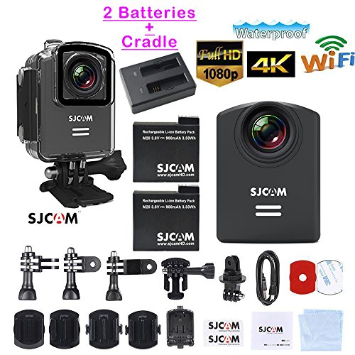 SJCAM M20 Waterproof Mini Action Camera WiFi Photo/Video Camcorder (Includes 2 Batteries + 1 Charge Cradle)