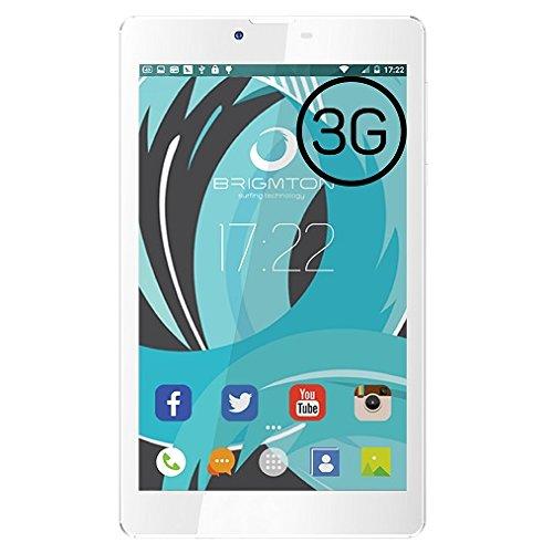Brigmton BTPC-PH5-B - Tableta de 7' (SC7731 Quad Core 1.3 GHz, disco duro de 8 GB, 10 GB de RAM, 3G, Android 5.0) blanco