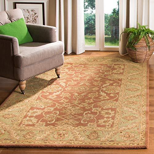 Safavieh Golden Jaipur Collection GJ250E Handmade Rust and Green Premium Wool Area Rug (3' x 5')