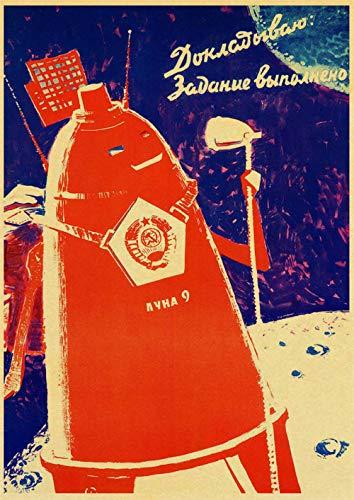 yiyiyaya Rahmenlose Bulldogge raucht Zigarre auf Leinwand Pop russische Propaganda Raum sowjetischen Haus Malerei -35_X_50_cm_No_Frame_23
