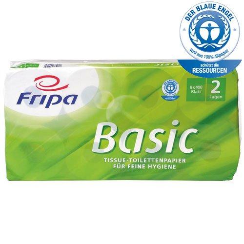 Fripa TissueToilettenpapier Basic, 2lagig, weiß 1510806