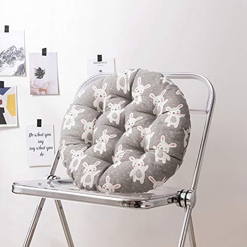 ENERGMiX Cotton Linen Cushion Chair Cushion Office Stool Tatami Cushion Thickening 45 * 45cm Little gray rabbit (round)