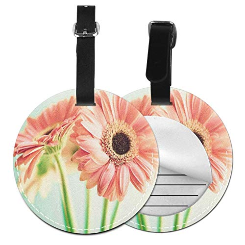Luggage Tags Daisy Flower Work Suitcase Luggage Tags Business Card Holder Travel Id Bag Tag