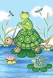 Jkimiiscute Pond Pals27 x 37 pulgadas, decorativo, diseo de tortuga de...