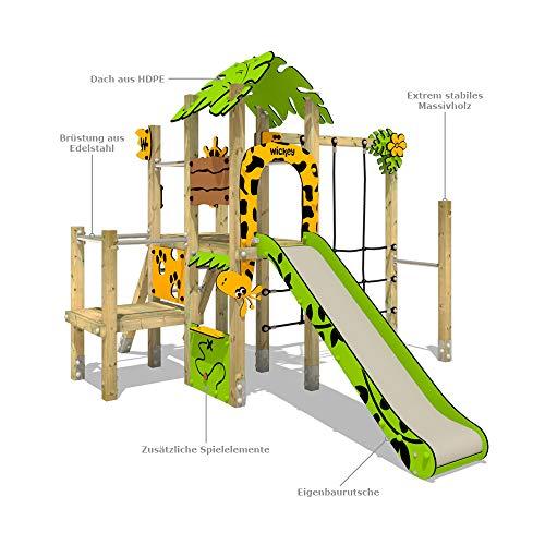 Klettergerüst WICKEY PRO MAGIC Tour+ für den öffentlichen Gebrauch - Entwickelt nach DIN EN 1176 - Kletterturm mit Rutsche für Kindergarten, Schule, Hotel, Restaurant, Ferienpark & Campingplatz - 6