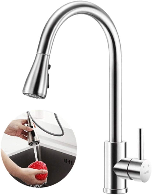 8HAOWENJU 304 Edelstahl Küchenarmatur, gesunde Küchenspüle Heien und kalten Wasserhahn, 360 ° drehbarer Wasserhahn - Geeignet für , Küche, Bad