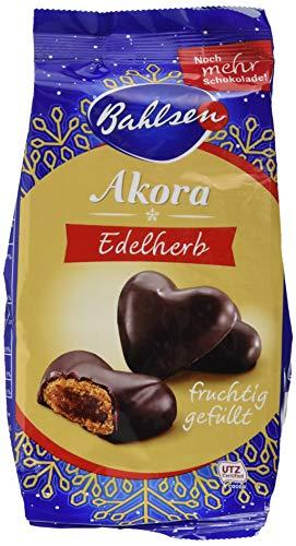 Bahlsen Akora Edelherb – leckere Lebkuchenherzen mit Fruchtfüllung, 1er Pack (1 x 150 g)