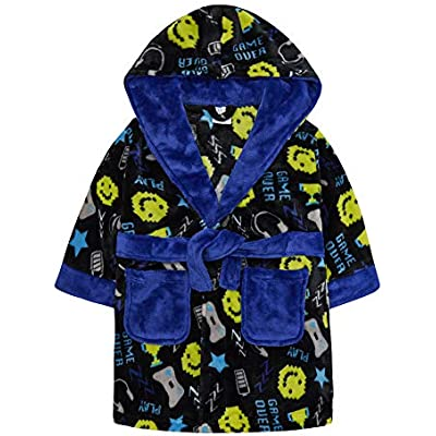 Robe ~ 2-6 Years Childrens Blue Dinosaur Dressing Gown