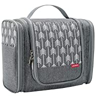 Lekesky Hanging Toiletry Bag Travel Cosmetic Bag Women Shower Bag Large Wash Bag Travel Organiser Wo...
