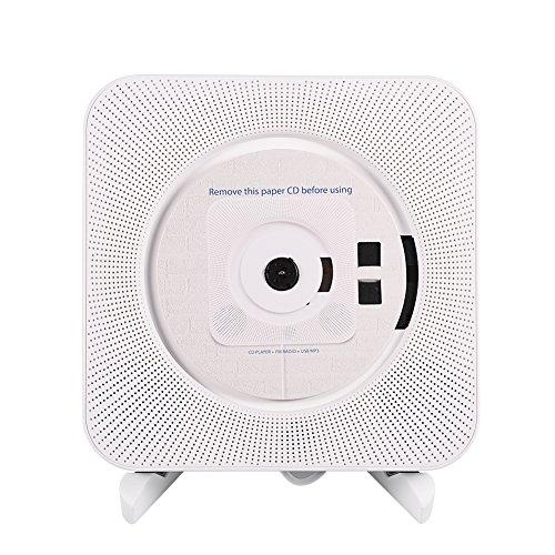 CD-speler DVD-speler aan de muur monteerbare draagbare muziekspeler geïntegreerde Bluetooth, CD-speler en FM-radio die CD, CD-R, CD-RW, MP3, WMA en anderen ondersteunt, met draadloze afstandsbediening, 1