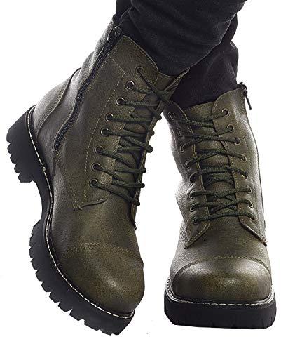 Leif Nelson Zapatillas para Hombre Calza Botas Zapatos LN-156 Caqui 41 EU