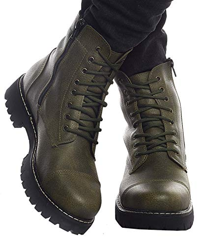 Leif Nelson Herren Schuhe Klassische Stiefel Freizeitschuhe Boots Elegante Winterschuhe Männer Sneakers LN156; 41, Khaki
