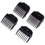 Cortadora de cabello Healifty Limit Peine Recortadores de corte Guía Peines Accesorios de barbero 4pcs (Negro)