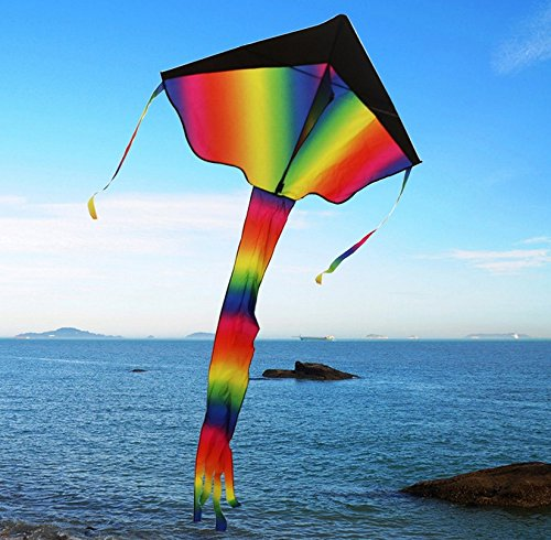 Primi Rainbow Delta Kite pour adultes Andkids Summer Fun Flying Jouets