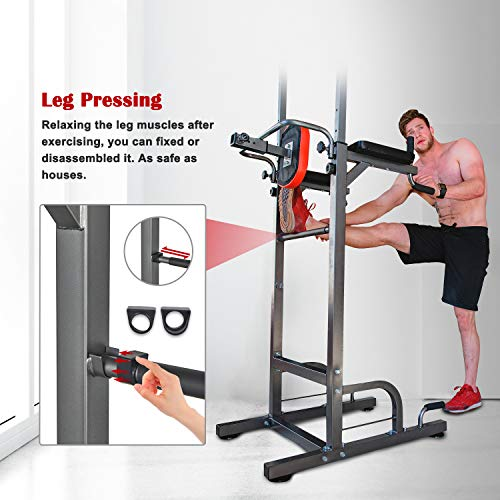 Product Image 2: RELIFE REBUILD YOUR LIFE Power Tower Workout Dip Station for Home Gym Strength Training Fitness Equipment Newer Version