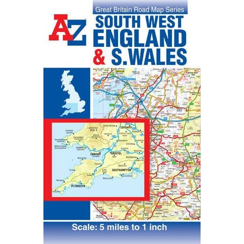 Driving Map Of England And Wales.Map Of England Amazon Co Uk