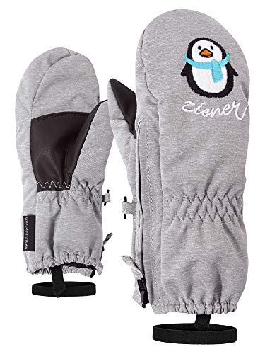 Ziener Baby LE ZOO MINIS - Guanti da sci e sport invernali, caldi, traspiranti, grigio (mélange chiaro), 86 cm