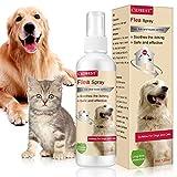 CIDBEST Juckreiz Spray für Haustiere,Floh Zeckenspray,Zeckenspray für Hund,Zeckenspray für Katze,Anti Floh Spray,Flea Spray,Flohbekämpfung Katze,Natürliches Anti-Floh-Spray für Hundekatzen