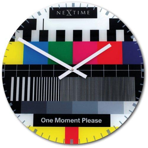 NeXtime 8607en Wall Clock, testpage, 43 cm, glas