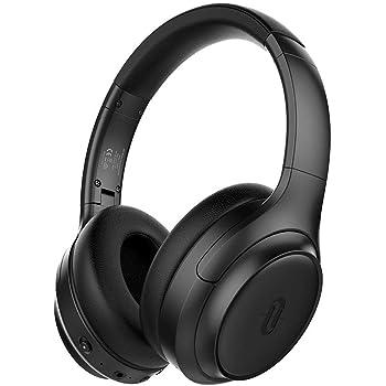 TaoTronics Active Noise Cancelling Headphones [2019 Upgrade] Bluetooth Headphones Over Ear Headphones Hi-Fi Sound Deep Bass, Quick Charge(Renewed)