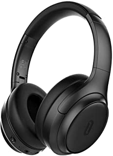 TaoTronics Active Noise Cancelling Headphones [2019 Upgrade] Bluetooth Headphones Over Ear Headphones Hi-Fi Sound Deep Bass, Quick Charge(Renewed)