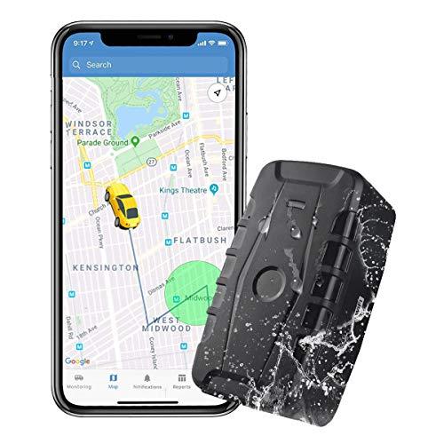 Localizador GPS para Coche,20000mAh GPS Tracker Tiempo Real Seguimiento Impermeable Real Antirrobo Rastreador GPS con App/Web para Vehículo Camión Moto