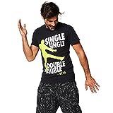Zumba Fitness Single Double Unisex tee Camiseta, Negro, M/L