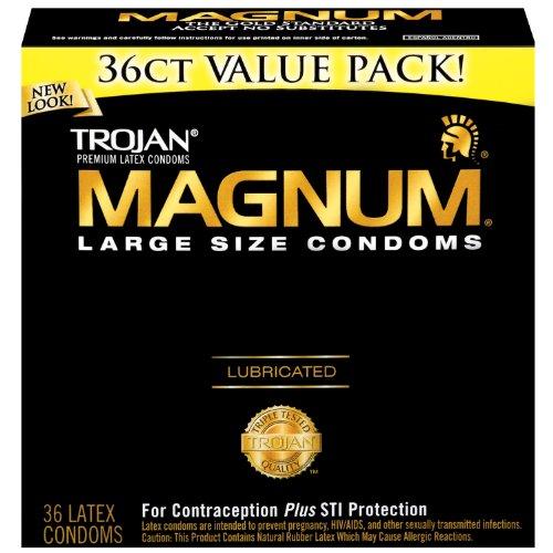 Trojan Magnum Condoms, Lubricated, Large, 36 Count