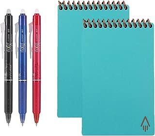 Rocketbook Everlast Reusable Smart Notebook, Mini, Light Blue (Pack of 2) with 5 Pilot FriXion Pens