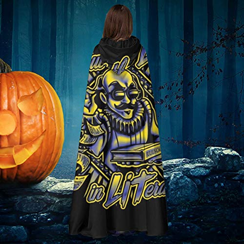 AISFGBJ William Shakespeare Lit In Literature - Disfraz de Bruja con Capucha para Halloween