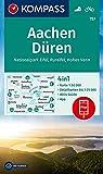 KOMPASS Wanderkarte Aachen, Düren, Nationalpark Eifel, Rureifel, Hohes Venn: 4in1 Wanderkarte 1:50000 mit Aktiv Guide und Detailkarten inklusive Karte ... (KOMPASS-Wanderkarten, Band 757)